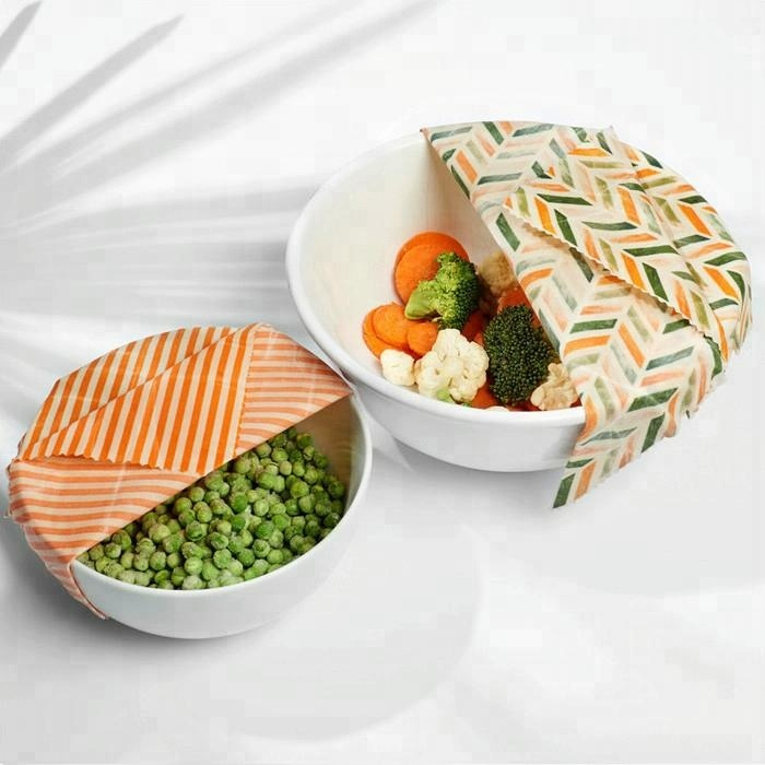 Amazon Best Selling Biodegradable Natural Organic Cotton Fabric Beeswax  Reusable Food Wraps For Sandwich Lunch Pack - Buy Beeswax Reusable Food