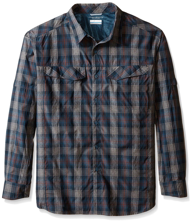 1b3ed3ae6ef Columbia Sportswear Men's Big Silver Ridge Plaid Long Sleeve Shirt,  Everblue Plaid, ...