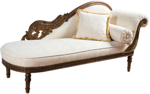 Antique Wooden Hand Carved Chaise Loungelazy Chairliving Room