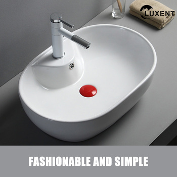 High Quality Ceramic Sanitary Ware Bathroom Oval Shape Art Wash Hand Basin
