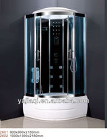 2013 new hot sale chrome aluminum hydro massage luxury sauna computer controlled steam shower room for sale