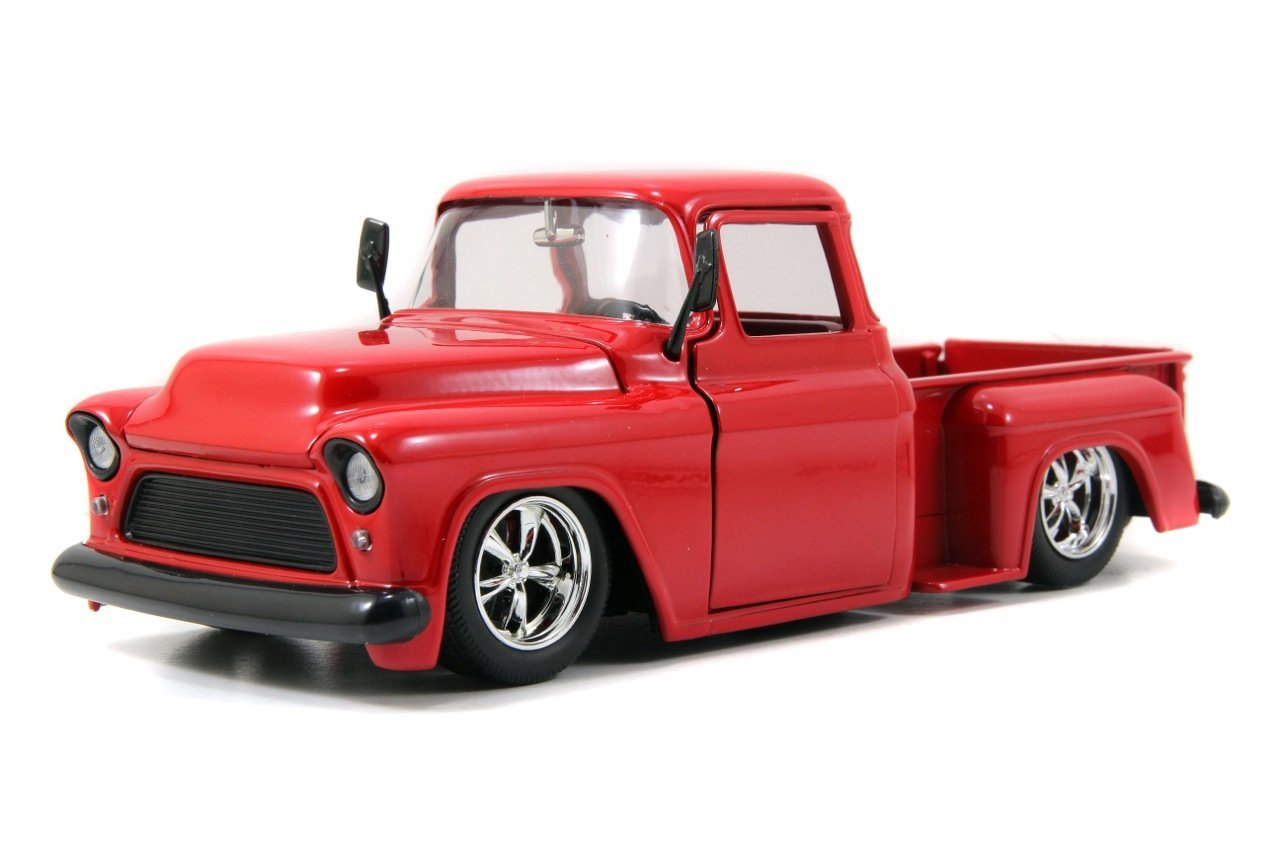 Buy 1955 Chevy Stepside Tow Truck 124 Scale Black In Cheap Price C10 Jada Bigtime Kustoms Pickup Red