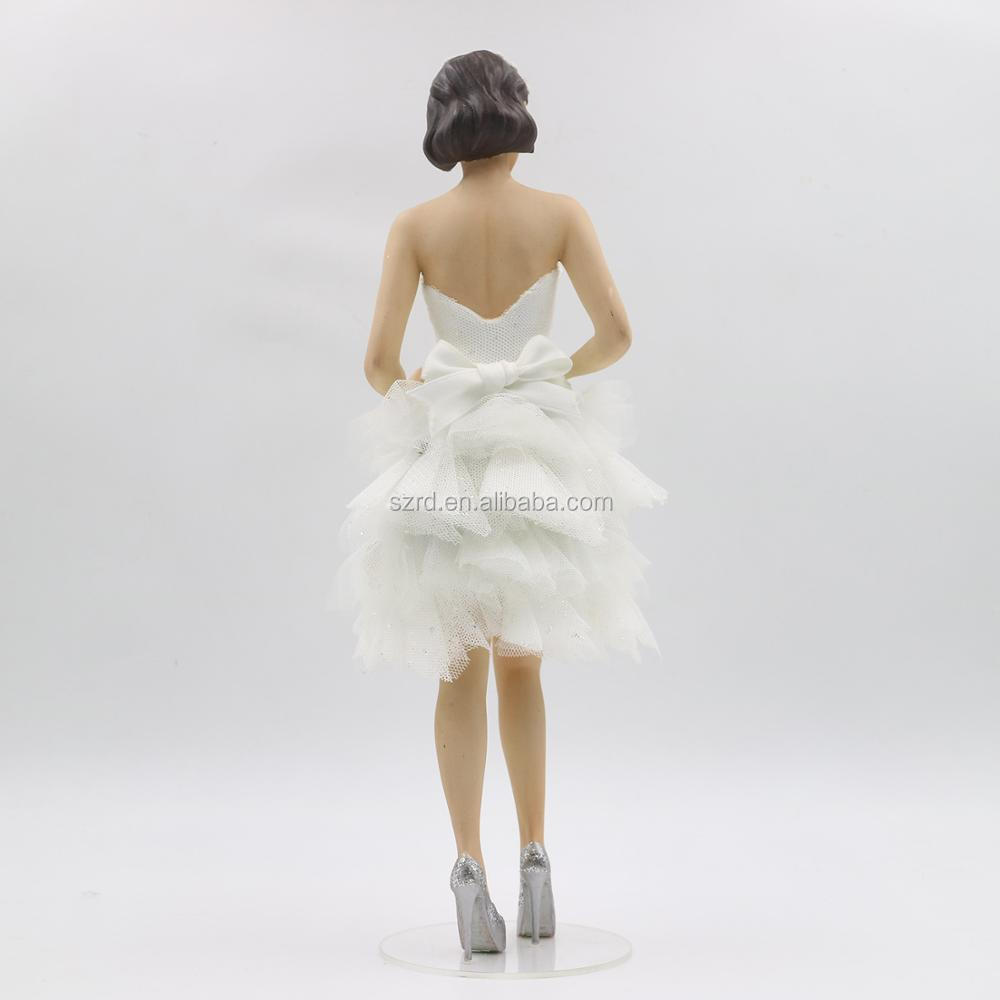 Good quality lifelike beauty 3d cheap polyresin standing statue