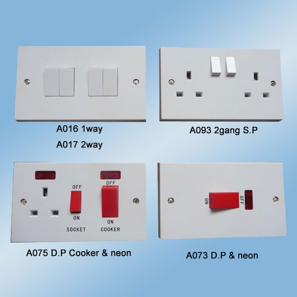 A016-A093-A075-A073 Square Range Cooker Switch and Socket