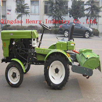 Electric Start Mini Tractor With Hydraulic Rotavator Buy