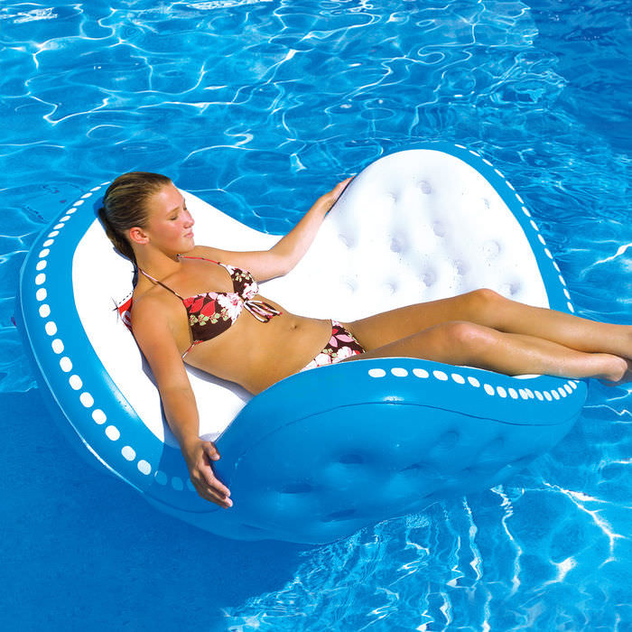 Beau Inflatable Floating Pool Lounge Chair Pool Lounger Float Inflatable Lounger