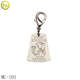 MC101 Personalized jewelry logo metal tag metal charm tag with small hook