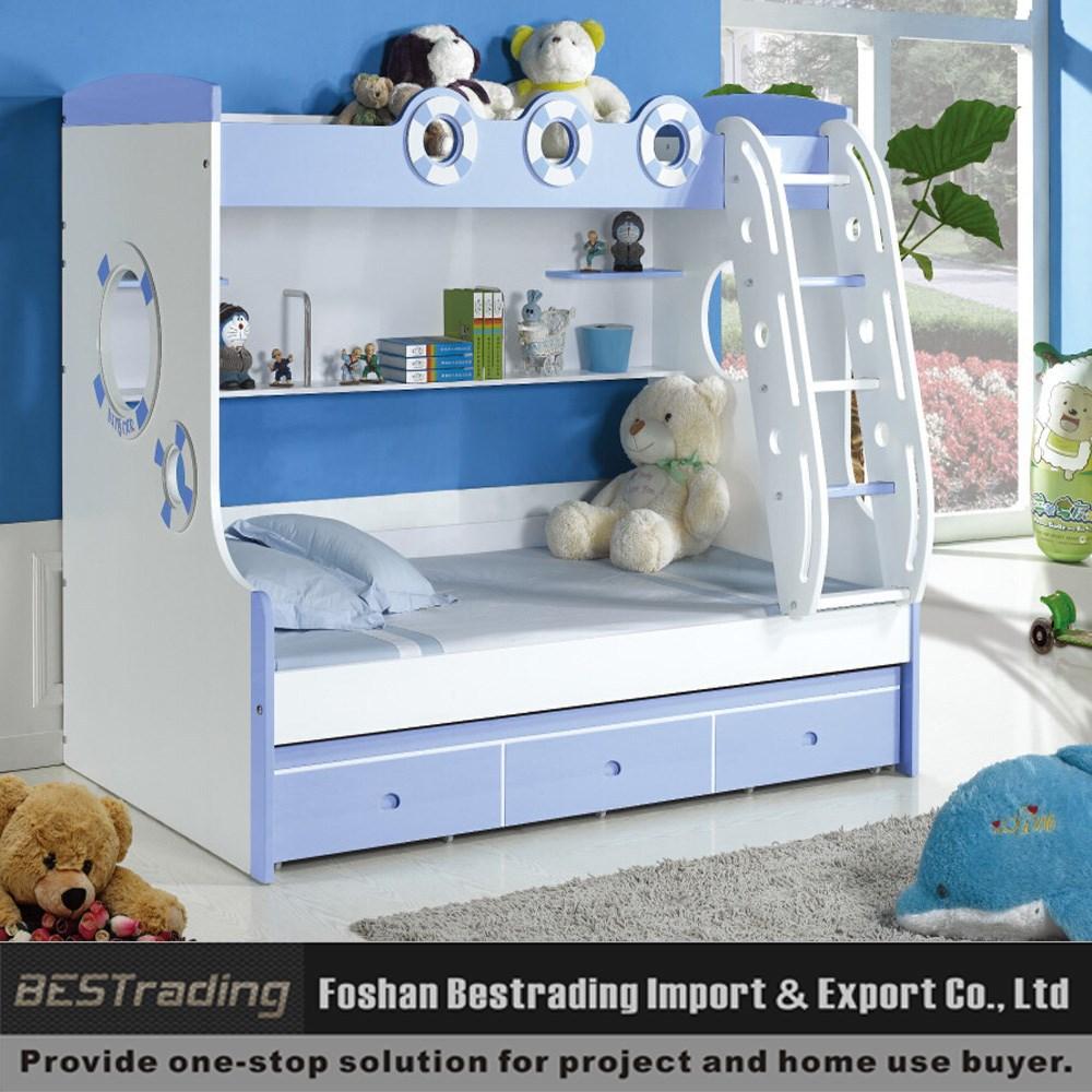 Moderne kinderen stapelbed dubbele bureau bed met opbergruimte ...