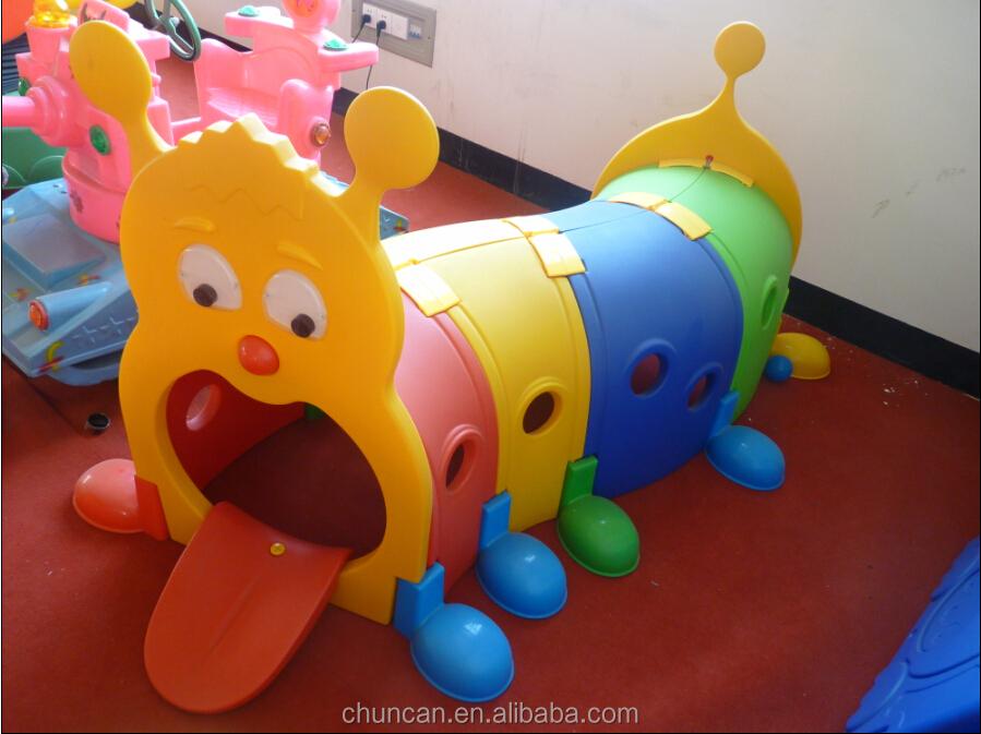 2017 Children Plastic Caterpillar Tunnel Toy Kid Play Playground Toys