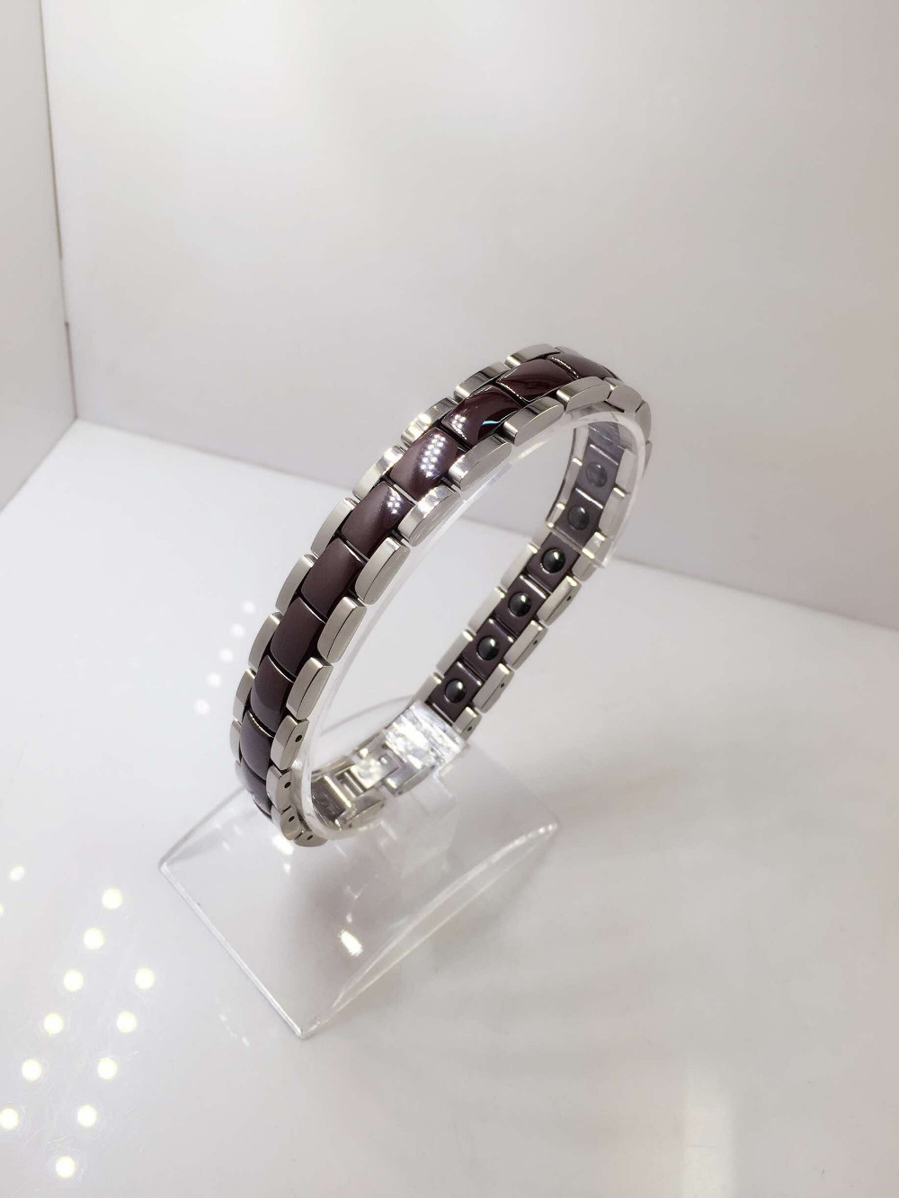 Popular Different Color Ceramic Steel Black Magnetic Bracelet for Women
