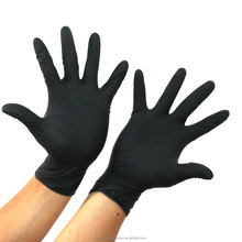 Cheap medical disposable black nitrile gloves with high quality