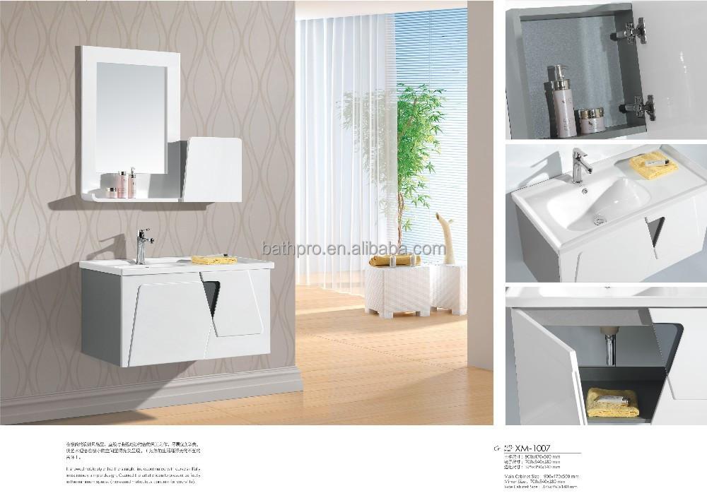 Houten Onderkast Badkamer : Houten ivoor kleur goedkope prijs moderne badkamer kast badkamer