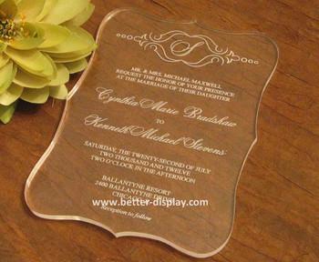 Custom Clear Plexiglass Wedding Invitations Buy Custom Clear
