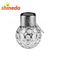 3 Pack Solar Outdoor Hanging Decorative Globe Light Auto Color Changing LED Ball Lantern Landscape Lamp for Garden