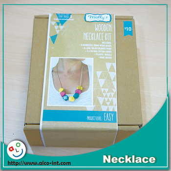 Wholesale Diy Wooden Bead Necklace Craft Kit For Adults Buy Bead