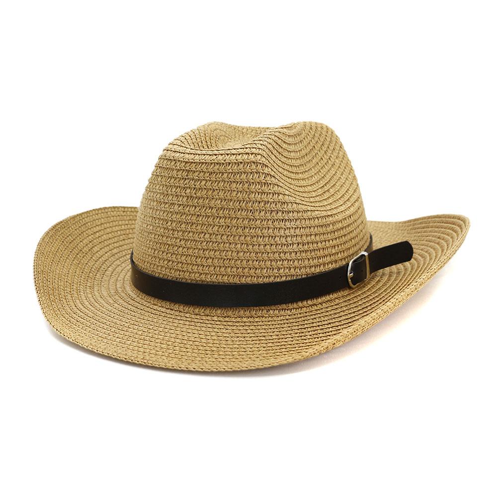 23d92d36 De los hombres de vaquero de paja estilo de sombrero de verano playa  sombrero