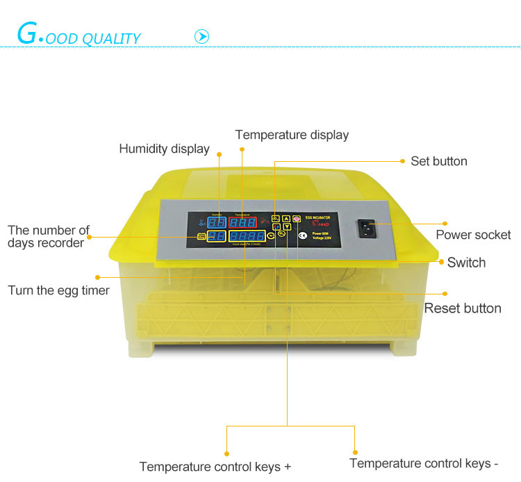 YZ8-48 Holding 48 eggs hot sale HHD brand automatic chicken incubator