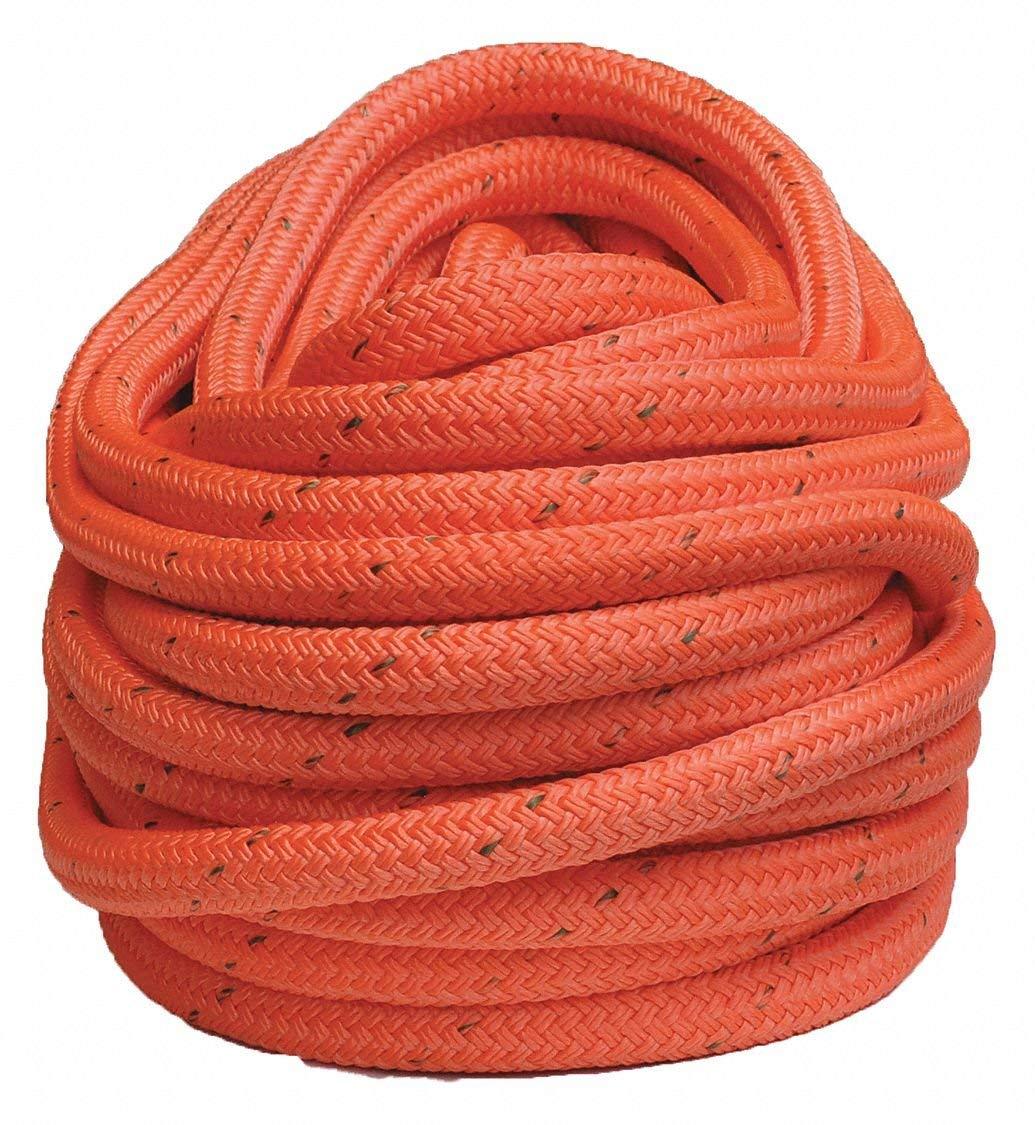 "3/4"" dia. Nylon/Polyester Arborist Rigging Rope, Orange, 150 ft."