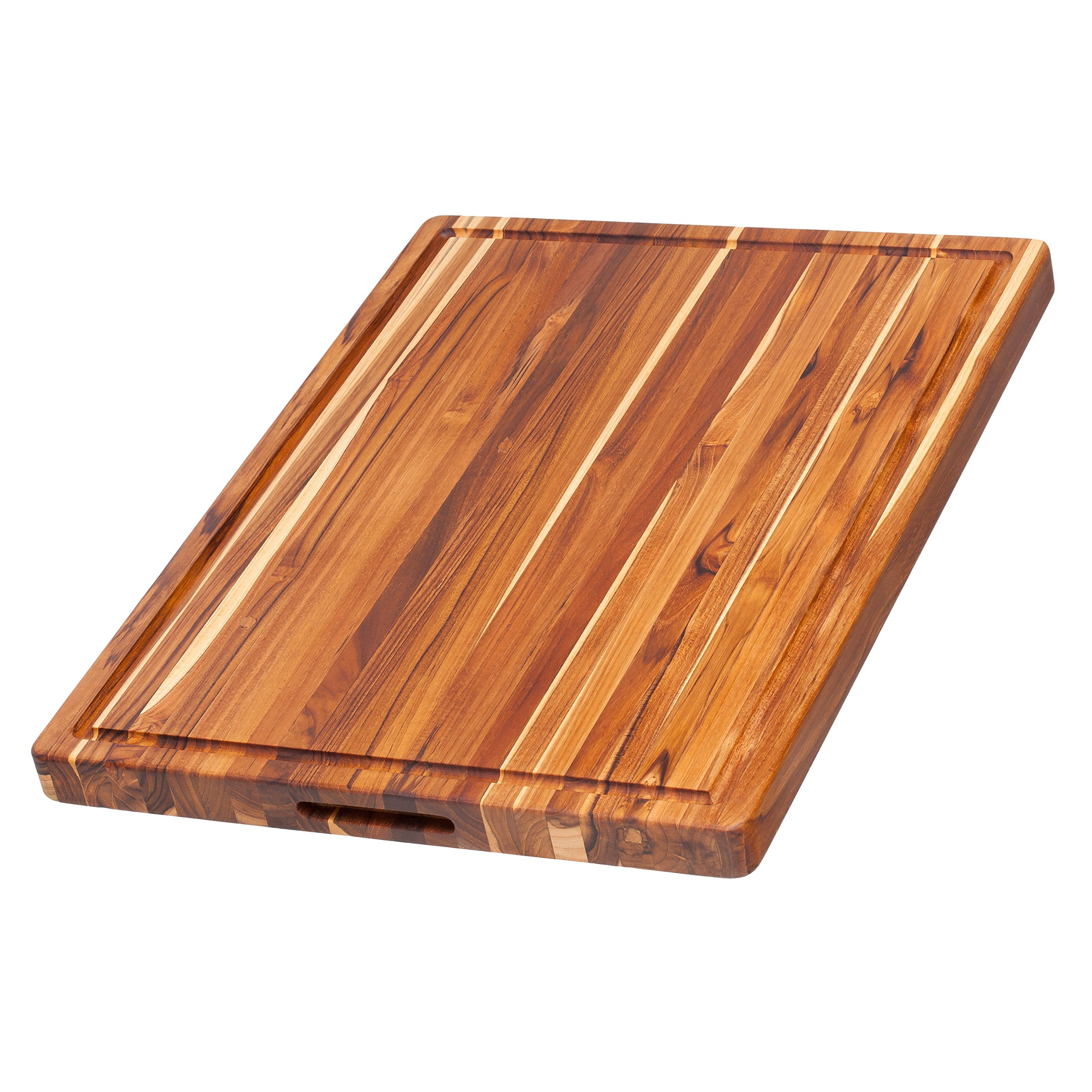 Get Quotations Teak Cutting Board Rectangle With Hand Grip And Juice C 24 X 18
