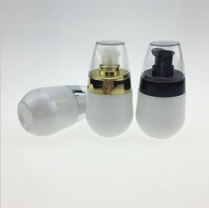 30ml 1oz Mini pearl white Jar Pot Refillable Makeup Lotion Cream Pump Bottle Empty Cosmetic Parfum Bottle With Dropper