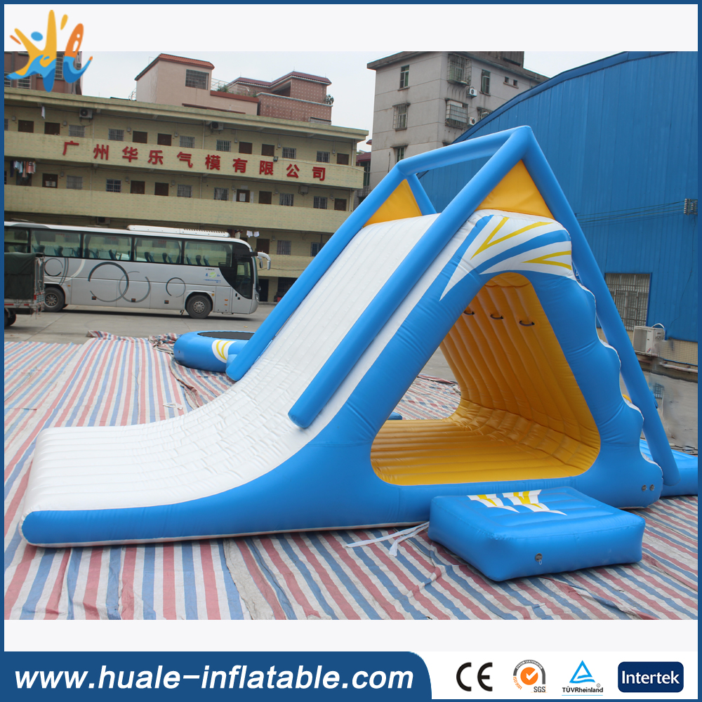 PVC Material Floating Water Slide /Water Park Inflatable Aqua Slide for sale