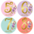 Baby Monthly Milestone Stickers Premium Floral Metallic Gold Stickers for First Year