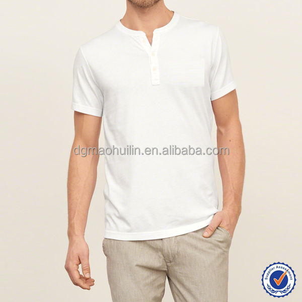 new style OEM service men t shirt custom t shirt printing softextile t shirt with buttons panel