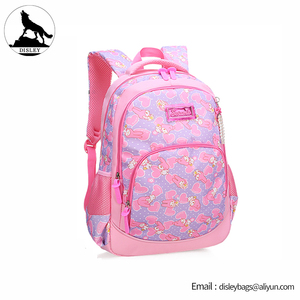 2018 New Style Kids Backpack nylon fabric print flower beautiful school bags for girls