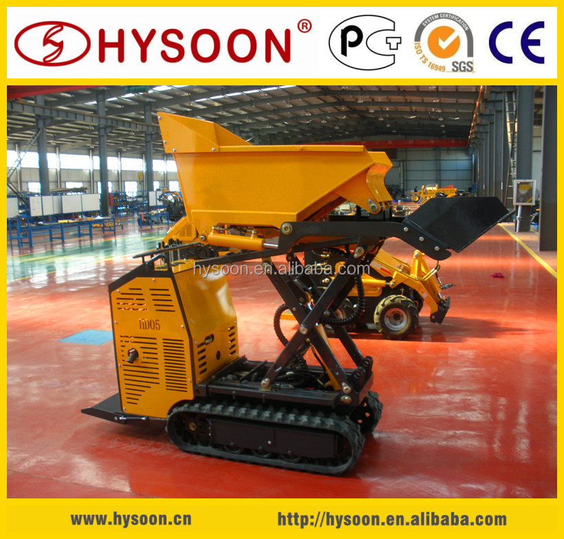 500kg capacity China mini track dumper for sale
