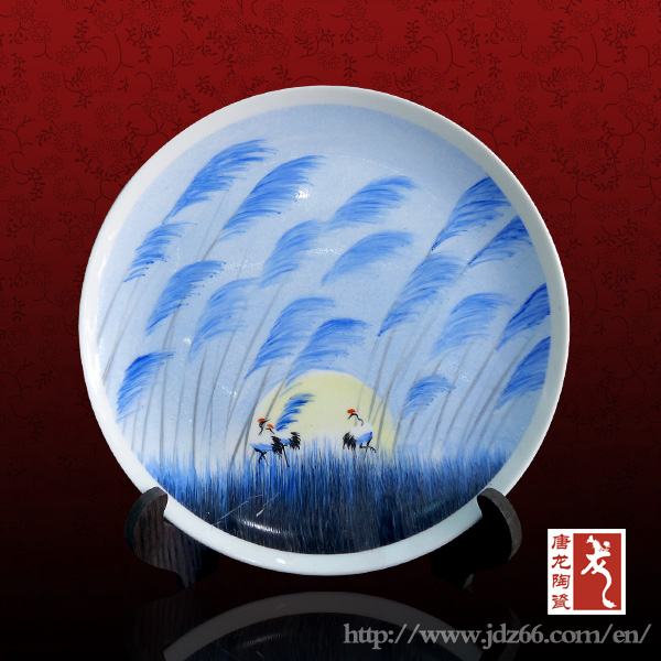 Jingdezhen factory direct OEM ceramic decorative plate crafts