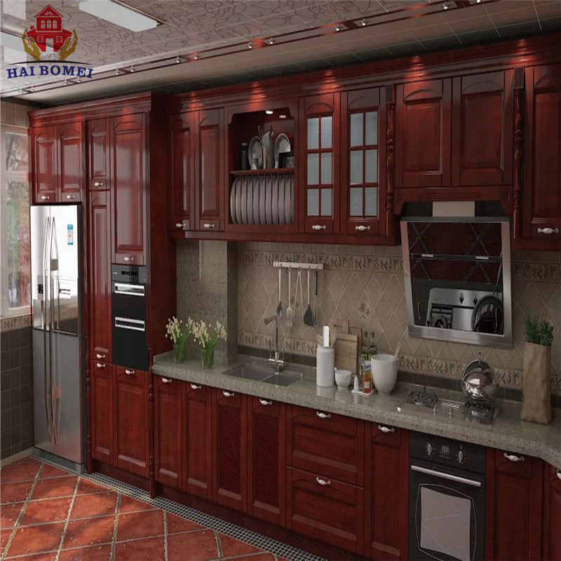 Bomei American Style Luxury Design Solid Wooden Kitchen Cabinets With Kitchen Pantry Cupboards For Sale Buy Solid Wooden Kitchen Cabinets Kitchen Pantry Cupboards American Style Luxury Kitchen Product On Alibaba Com