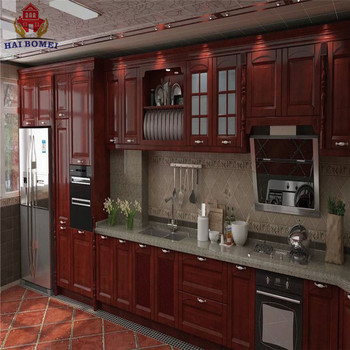 Bomei American Style Luxury Design Solid Wooden Kitchen Cabinets With  Kitchen Pantry Cupboards For Sale - Buy Solid Wooden Kitchen  Cabinets,Kitchen ...