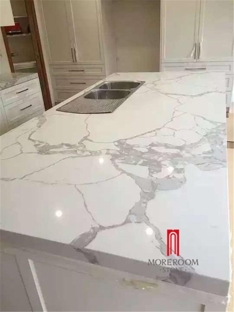 regard de marbre calacatta blanc quartz dalle de pierre artificielle comptoir quartz id de. Black Bedroom Furniture Sets. Home Design Ideas