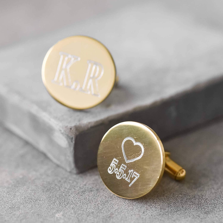 Personalized Cufflinks - Custom Cufflinks - Initials Cufflinks - Engraved Cufflinks - Men's Cufflinks - Gold Cufflinks - Groom Cufflinks - Men's Accessories - Men's Jewelry - Wedding Cufflinks
