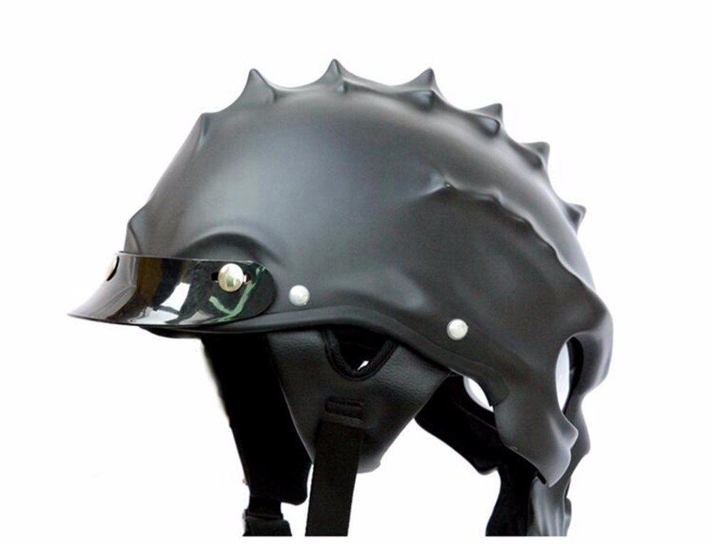 Best Selling Skull Motorcycle Helmet Half Face With Lens Cyclegear CG489