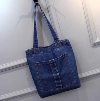 b29d3d462 Mujeres Soft Jeans Tela Bolso Casual Tote Bolsos Simples - Buy Jeans ...