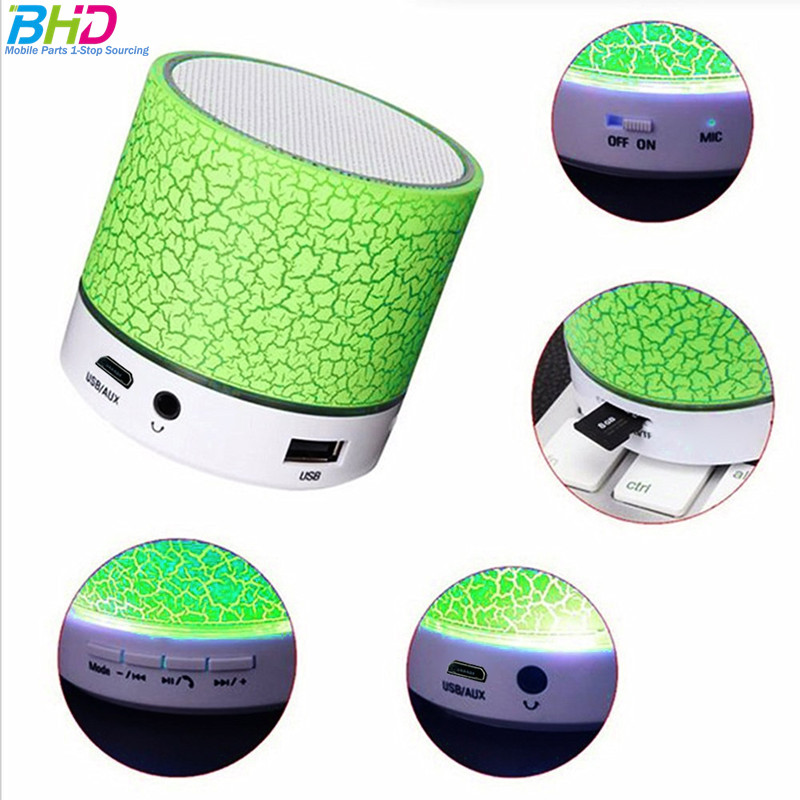 Bluetooth LED Mini Speaker Nirkabel S10 TF USB FM Portabel Musik Audio Tahan Air Speaker