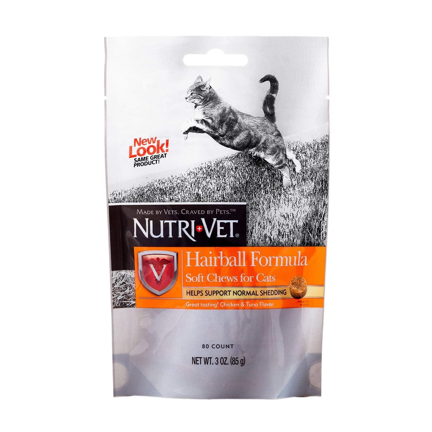 Nutri-Vet Hairball Formula Soft Chew Supplement for Cats 2.5 oz.(pack of 2)