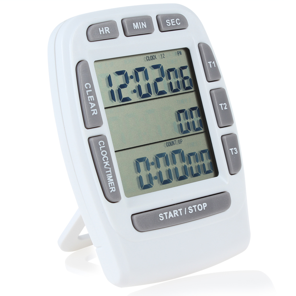 Cheap Lcd Countdown Timer Find Deals On Line At Three Hour Get Quotations 3 Lines Triple Digital Kitchen Stopwatch For Cooking Tools Clock Alarm