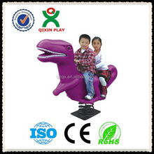 Dinosaur outdoor spring horse(QX-153S)/kids swing horse toy/plastic rocking horse swing