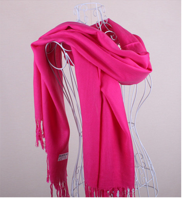 2016 Multi color cheap oversize pashmina shawl pashmina korea scarf with tassels wholesale
