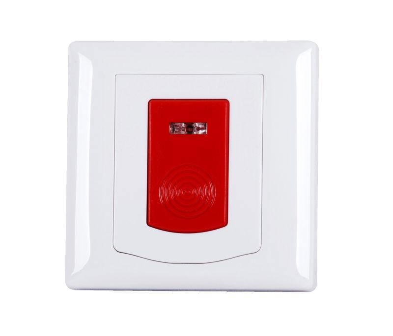 Nieuwe ontwerp draadloze brandalarm drukknop nood paniek knop voor indoor wandmontage alarm - Rookdetector ontwerp ...