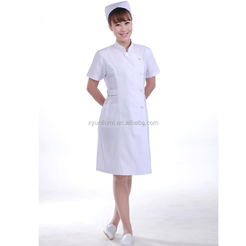 b0a2a976215 OEM Service Female Design Nurse White Uniform made from China manufacturer