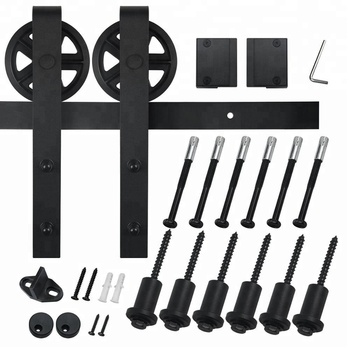 6 Foot 7 Inch Interior Spoke Wheel Single Barn Hardware Kits For