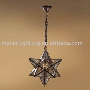 Moroccan Star Lantern,Brass Lamp In Antique Bronze Finish