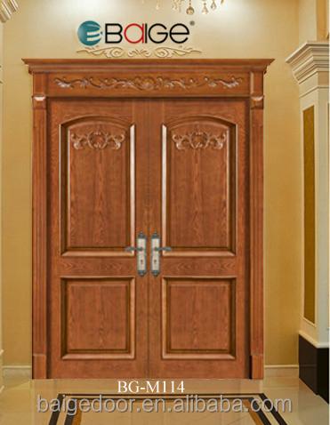 Bg m215 flat teak wood main door designs simple teak wood for Main door catalogue