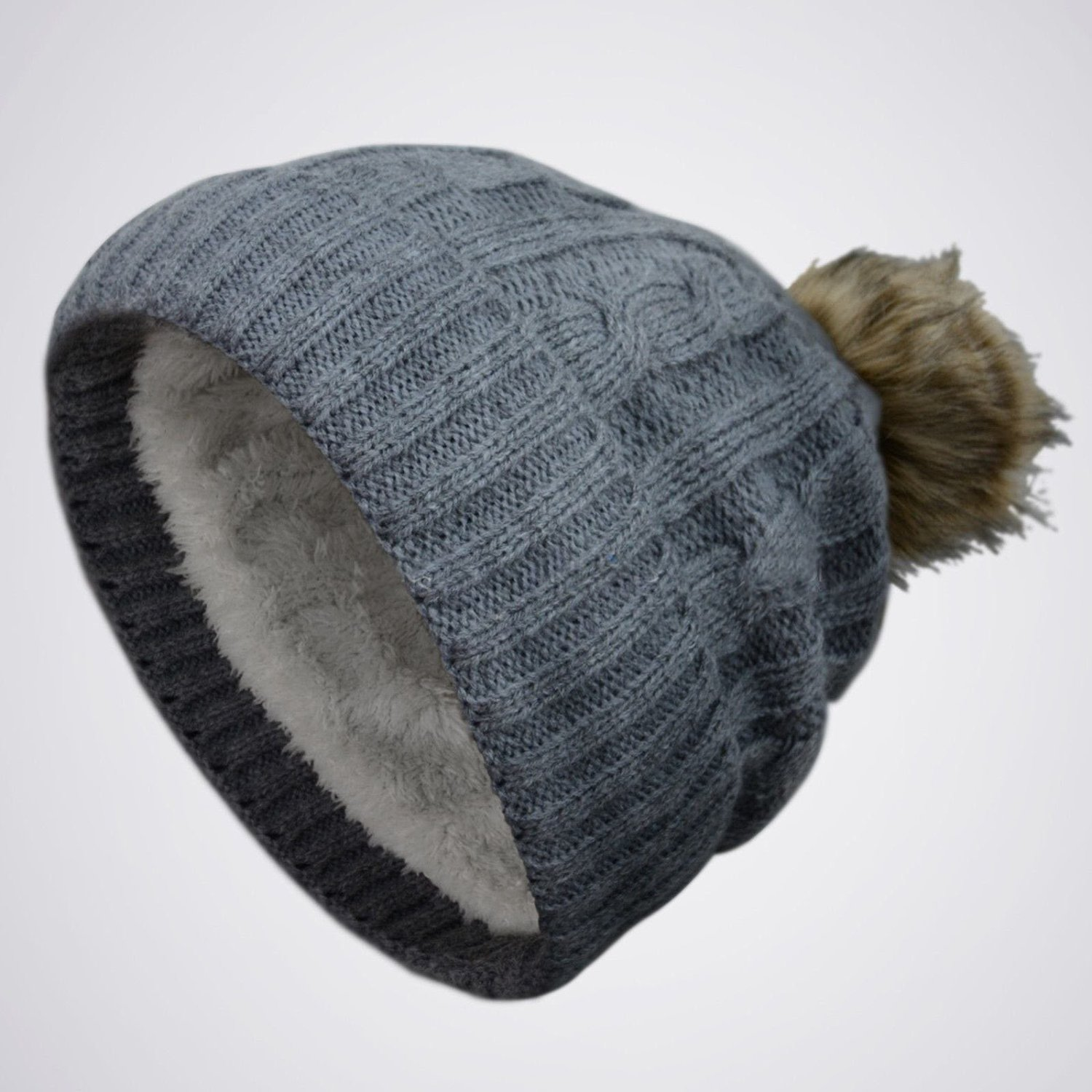 Buy GREY Thick POM-POM Knit Slouchy Baggy Beanie Oversize Winter Hat Ski  Cap Skull Womens in Cheap Price on m.alibaba.com 29c58c56730