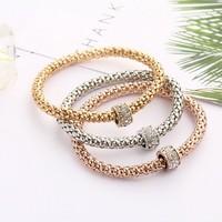 crystal-encrusted bracelet shambhala drilling ball bounce popcorn bracelet