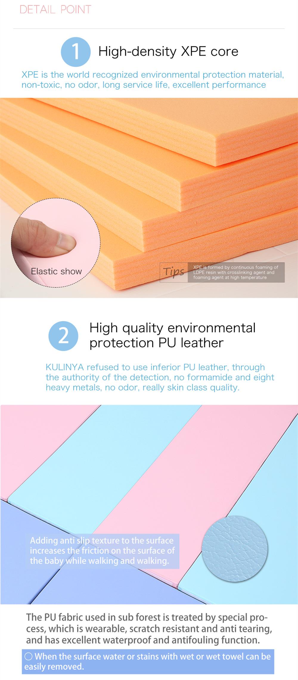 אפור ולבן עור מפוצל epe/xpe קצף רב תכליתי ילדים לול עם בטיחות גדר