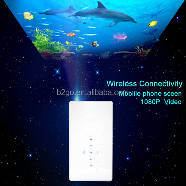 B2GO Portable Mini <strong>Projector</strong> HD 1080P Wireless With Built In Battery for home